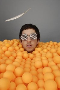 Calvin Harris up to his nexk in balls Provided by the artist or their representative