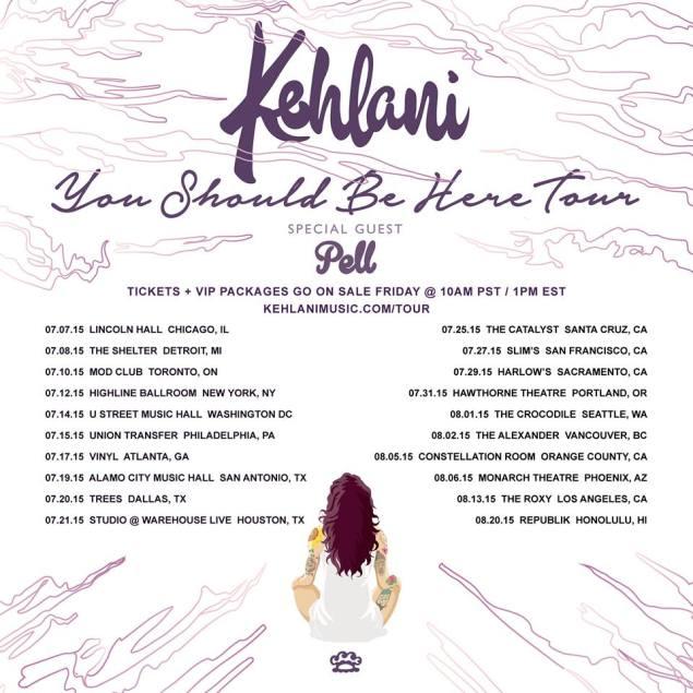 Kehlani tour poster
